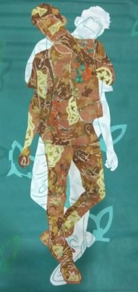 Title - can you see me-II, Size -33 X 57 inch. Acrylic on canvas, Price- 1.50 Lack