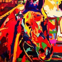 Deepti Gupta -Horses XII -Acrylic on Canvas -36 x 36