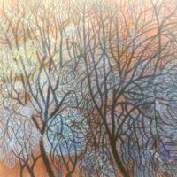 Kishore, Untitled, Acrylic on Canvas-24 x 24incheS...