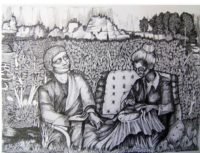 Sukesan Kanka Untitiled pen on paper size 43x29