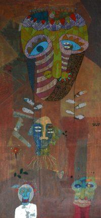 Yashwant,singh,Untitiled,Medium,-Charcole On Paper ,Size - 28x57