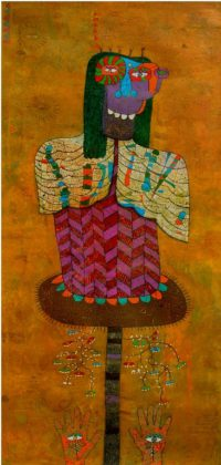 Yashwant,singh,Untitiled,Medium,-Charcole On Paper ,Size - 30x72 inch
